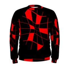 Red abstract flower Men s Sweatshirt