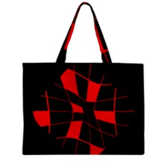Red abstract flower Zipper Mini Tote Bag