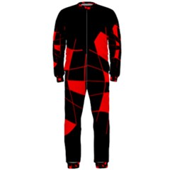 Red abstract flower OnePiece Jumpsuit (Men)