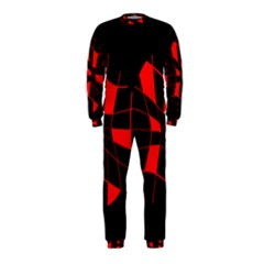 Red abstract flower OnePiece Jumpsuit (Kids)