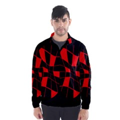 Red Abstract Flower Wind Breaker (men)
