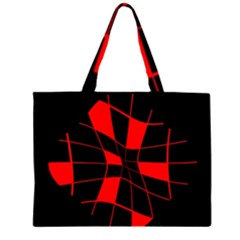 Red abstract flower Large Tote Bag