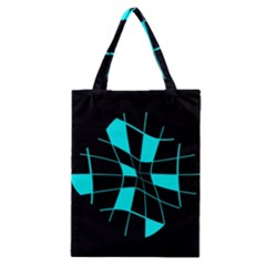 Blue abstract flower Classic Tote Bag