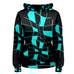 Blue abstract flower Women s Pullover Hoodie