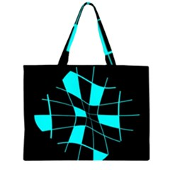 Blue abstract flower Large Tote Bag