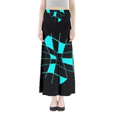 Blue abstract flower Maxi Skirts