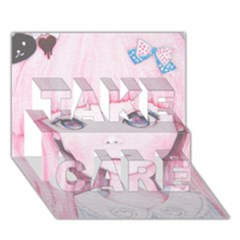 Slow Spring TAKE CARE 3D Greeting Card (7x5)