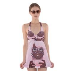 Gamergirl 3 P Halter Swimsuit Dress