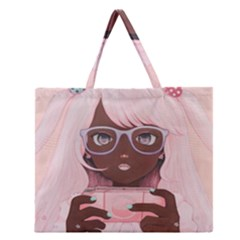 Gamergirl 3 P Zipper Large Tote Bag