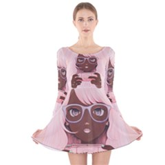 Gamergirl 3 P Long Sleeve Velvet Skater Dress