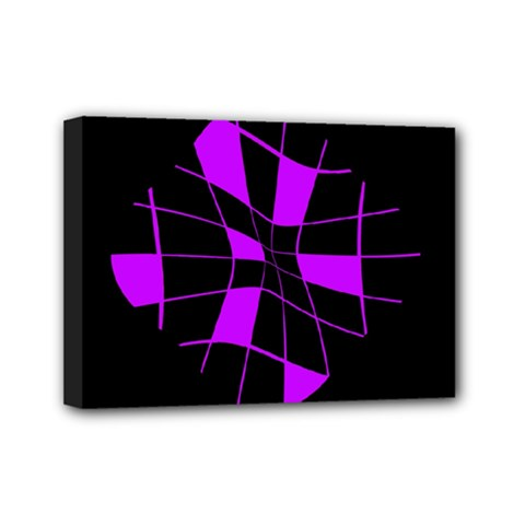 Purple abstract flower Mini Canvas 7  x 5