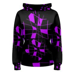Purple abstract flower Women s Pullover Hoodie