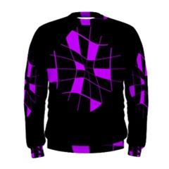 Purple abstract flower Men s Sweatshirt
