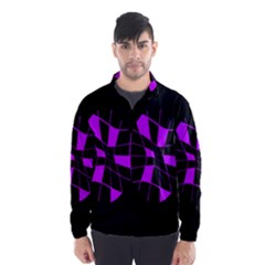 Purple abstract flower Wind Breaker (Men)