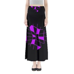 Purple abstract flower Maxi Skirts