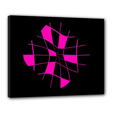 Pink abstract flower Canvas 20  x 16