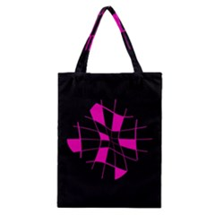 Pink abstract flower Classic Tote Bag