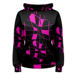 Pink abstract flower Women s Pullover Hoodie