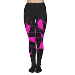 Pink abstract flower Women s Tights