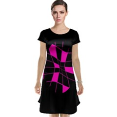 Pink abstract flower Cap Sleeve Nightdress
