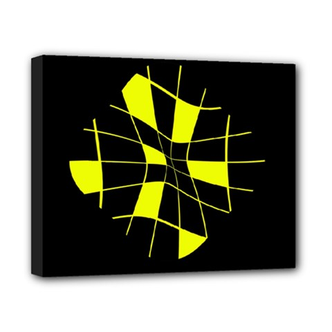 Yellow abstract flower Canvas 10  x 8