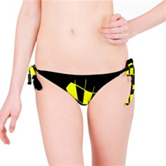 Yellow abstract flower Bikini Bottom