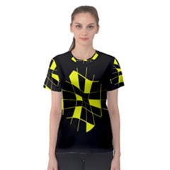 Yellow abstract flower Women s Sport Mesh Tee