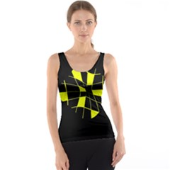 Yellow abstract flower Tank Top