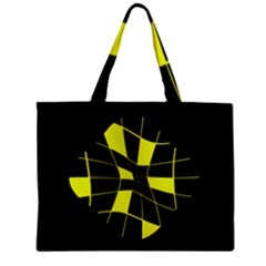 Yellow abstract flower Zipper Mini Tote Bag