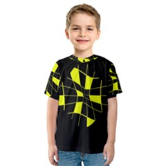 Yellow abstract flower Kid s Sport Mesh Tee