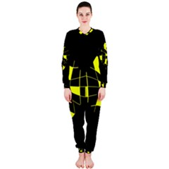 Yellow abstract flower OnePiece Jumpsuit (Ladies)