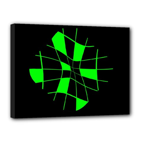 Green abstract flower Canvas 16  x 12
