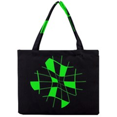 Green abstract flower Mini Tote Bag