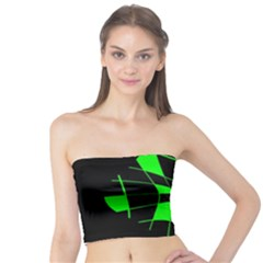 Green abstract flower Tube Top