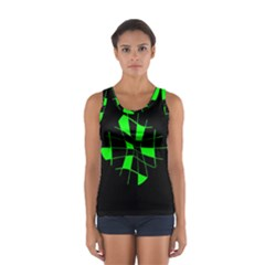 Green abstract flower Tops