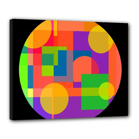 Colorful circle  Canvas 20  x 16