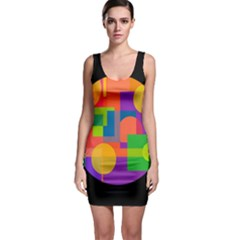 Colorful circle  Sleeveless Bodycon Dress