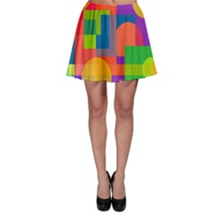 Colorful circle  Skater Skirt