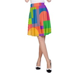 Colorful circle  A-Line Skirt