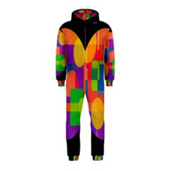 Colorful circle  Hooded Jumpsuit (Kids)