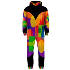 Colorful circle  Hooded Jumpsuit (Men)