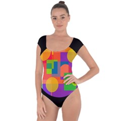 Colorful circle  Short Sleeve Leotard