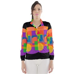 Colorful Circle  Wind Breaker (women)