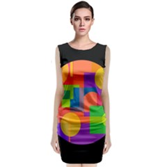 Colorful Circle  Classic Sleeveless Midi Dress