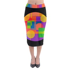 Colorful Circle  Midi Pencil Skirt