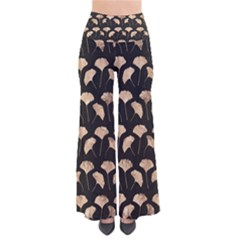 Black And Gold Ginko Leaf Pattern   Women s Palazzo Pants