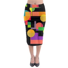 Colorful Abstraction Midi Pencil Skirt
