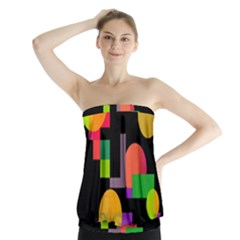Colorful Abstraction Strapless Top