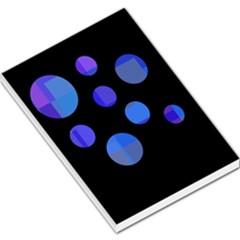 Blue circles  Large Memo Pads