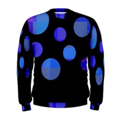 Blue circles  Men s Sweatshirt
